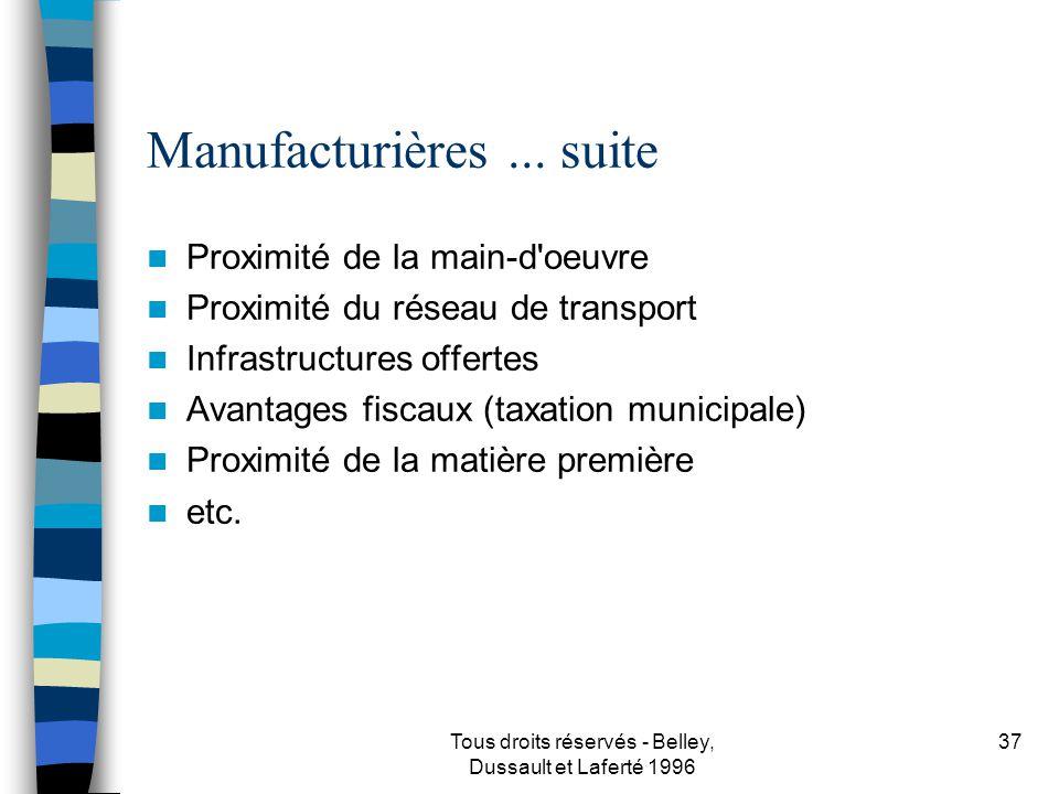 Manufacturières ... suite