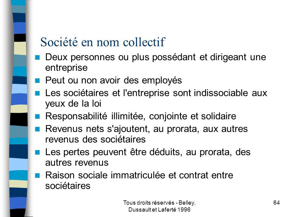 Société en nom collectif