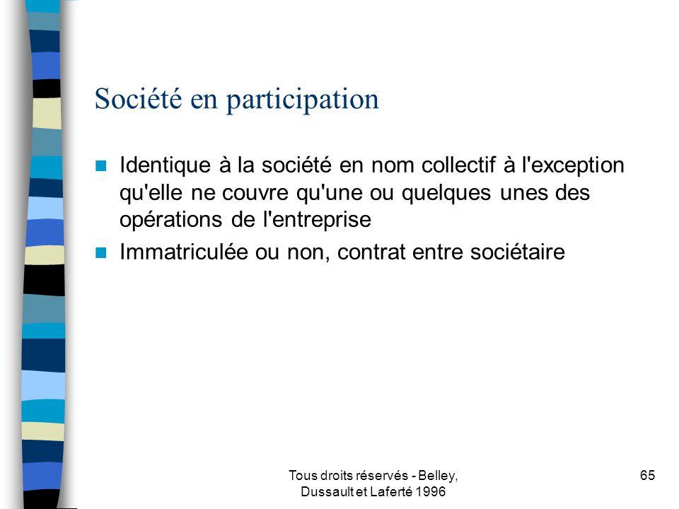 Société en participation