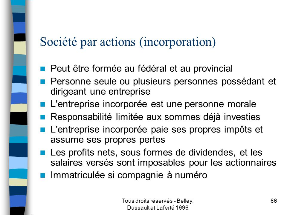 Société par actions (incorporation)