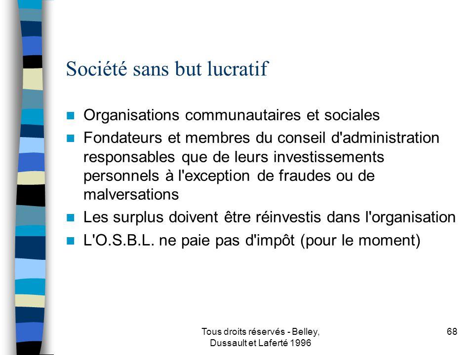 Société sans but lucratif