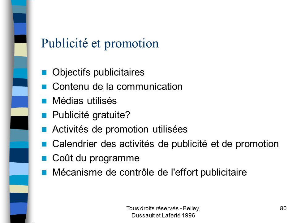 Publicité et promotion
