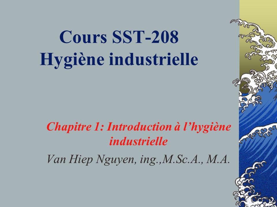 Cours SST-208 Hygiène industrielle