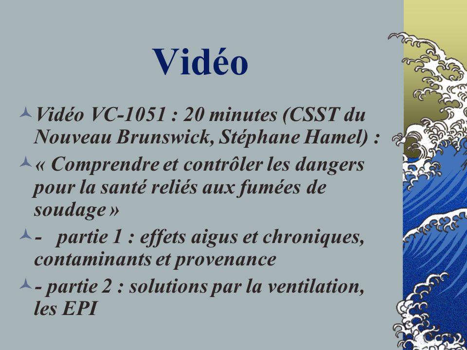 Vidéo Vidéo VC-1051 : 20 minutes (CSST du Nouveau Brunswick, Stéphane Hamel) :