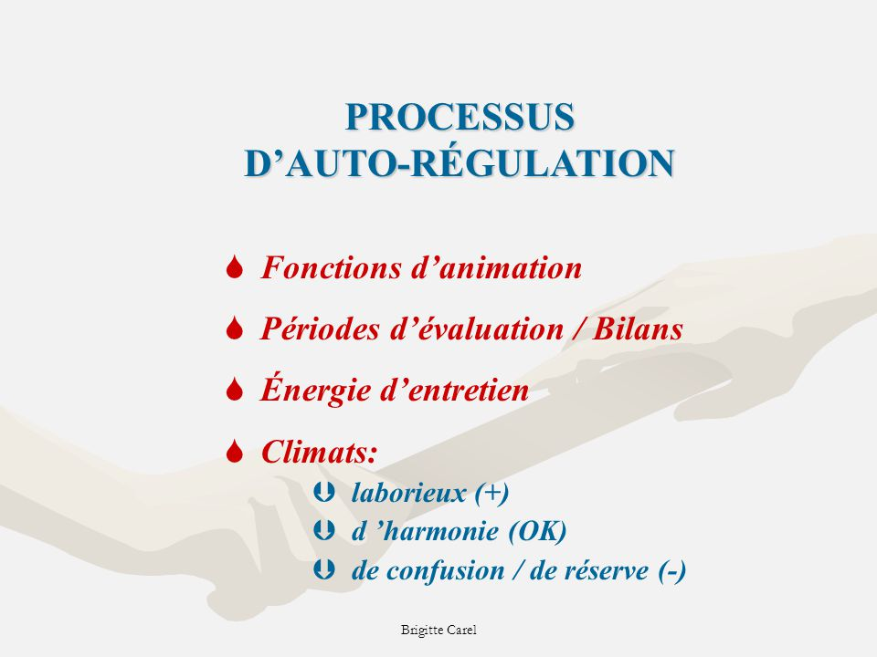 PROCESSUS D'AUTO-RÉGULATION