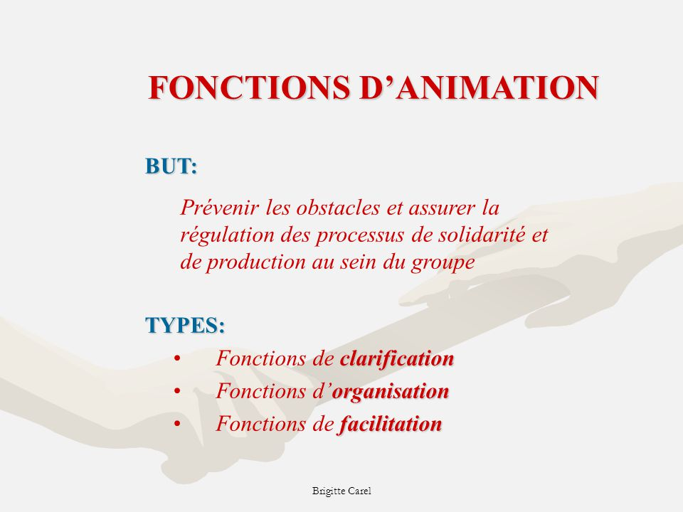FONCTIONS D'ANIMATION