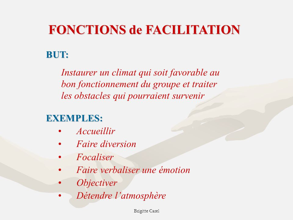 FONCTIONS de FACILITATION