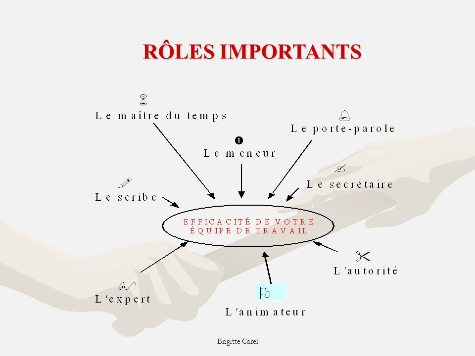 RÔLES IMPORTANTS Brigitte Carel