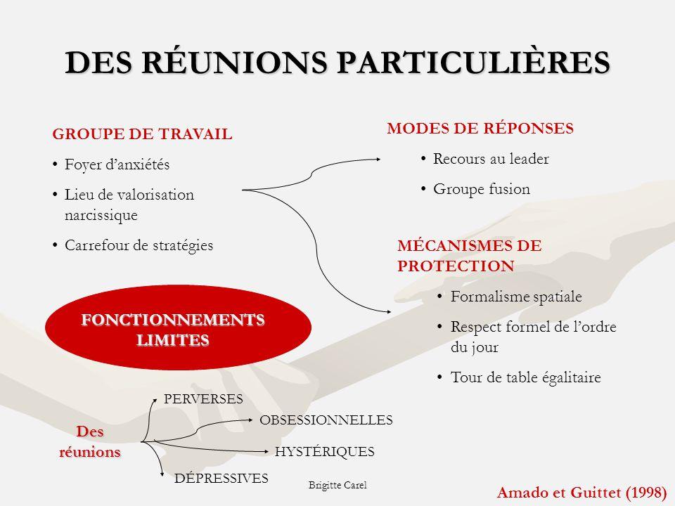 DES RÉUNIONS PARTICULIÈRES