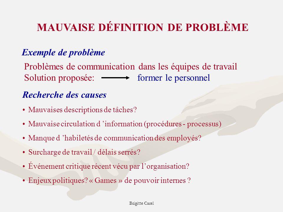 MAUVAISE DÉFINITION DE PROBLÈME