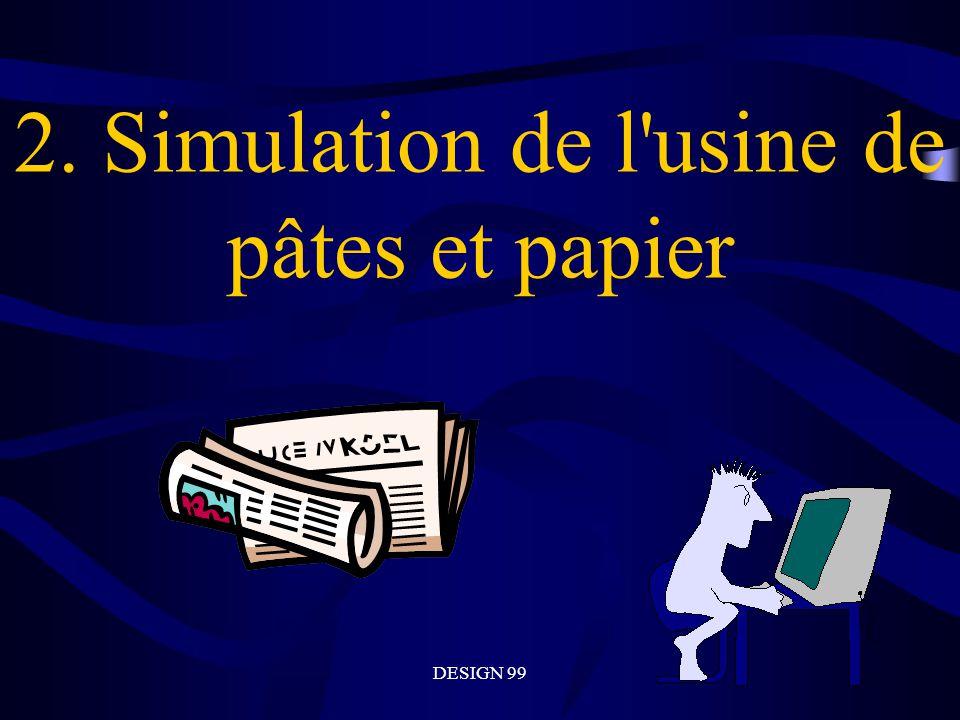 2. Simulation de l usine de pâtes et papier