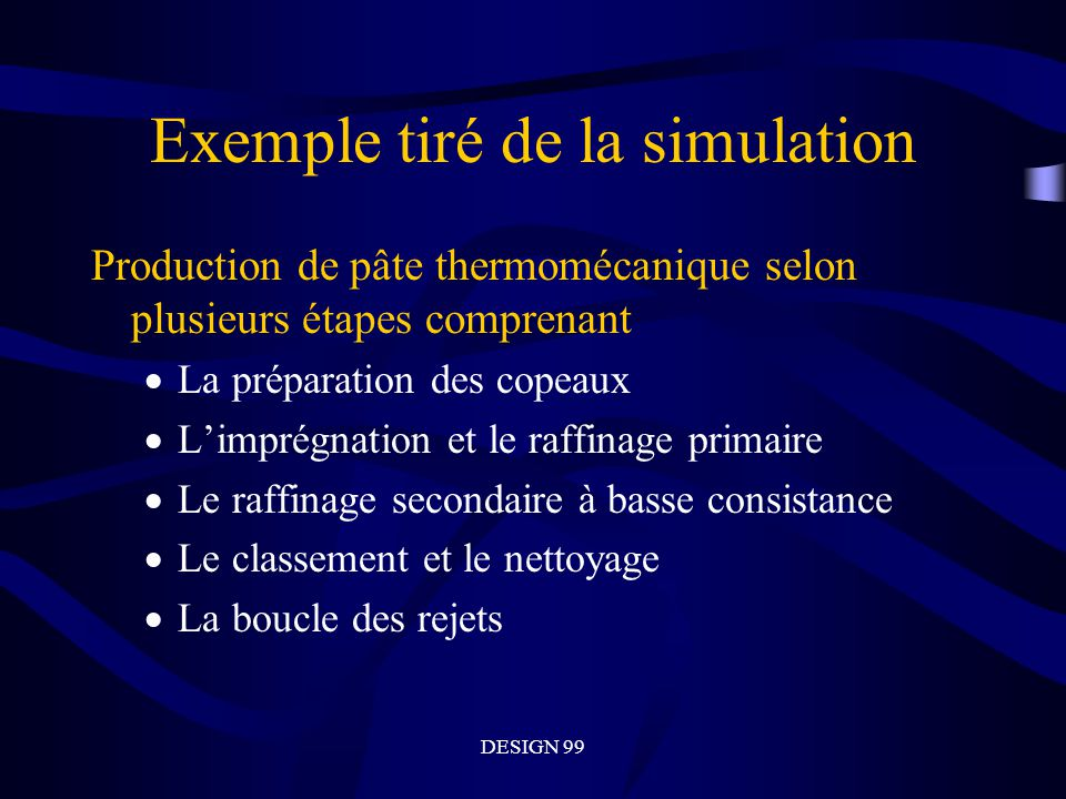 Exemple tiré de la simulation