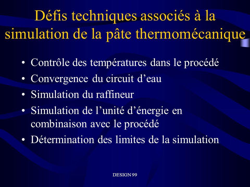Défis techniques associés à la simulation de la pâte thermomécanique