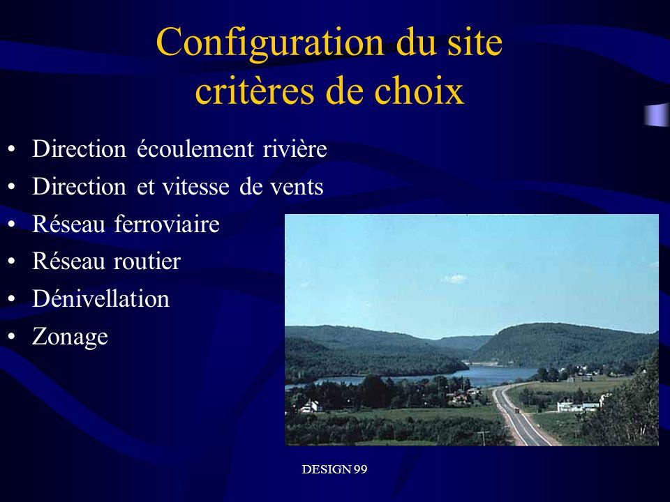 Configuration du site critères de choix