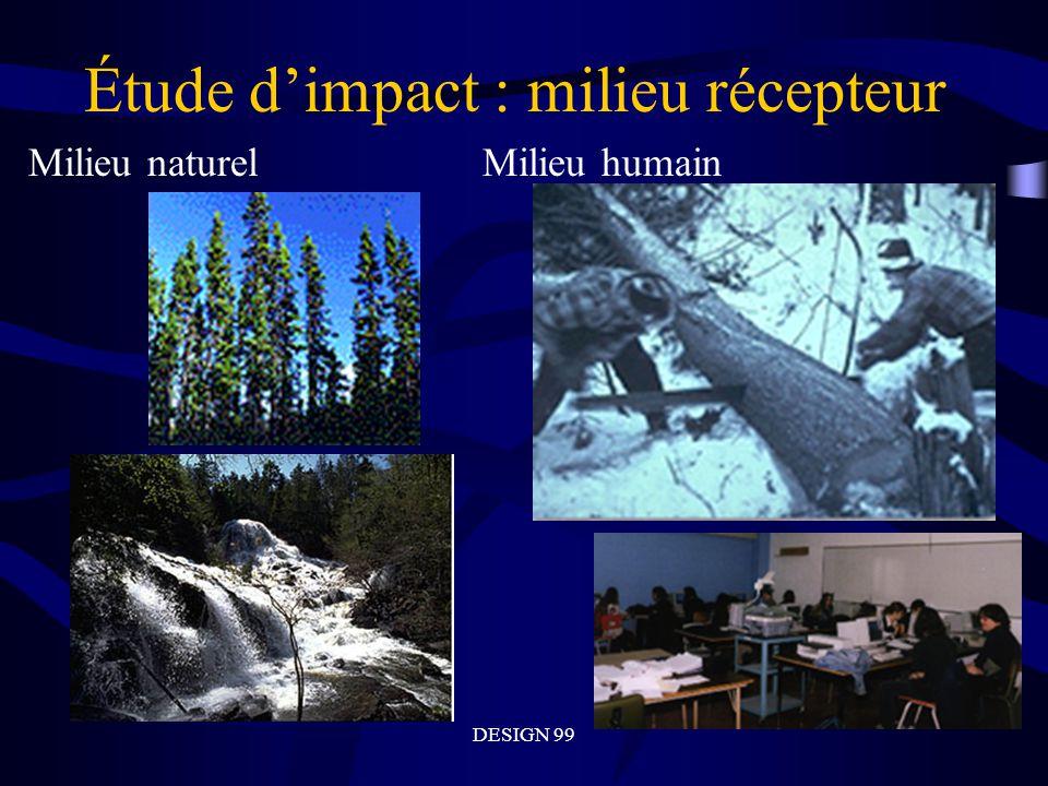 Étude d'impact : milieu récepteur