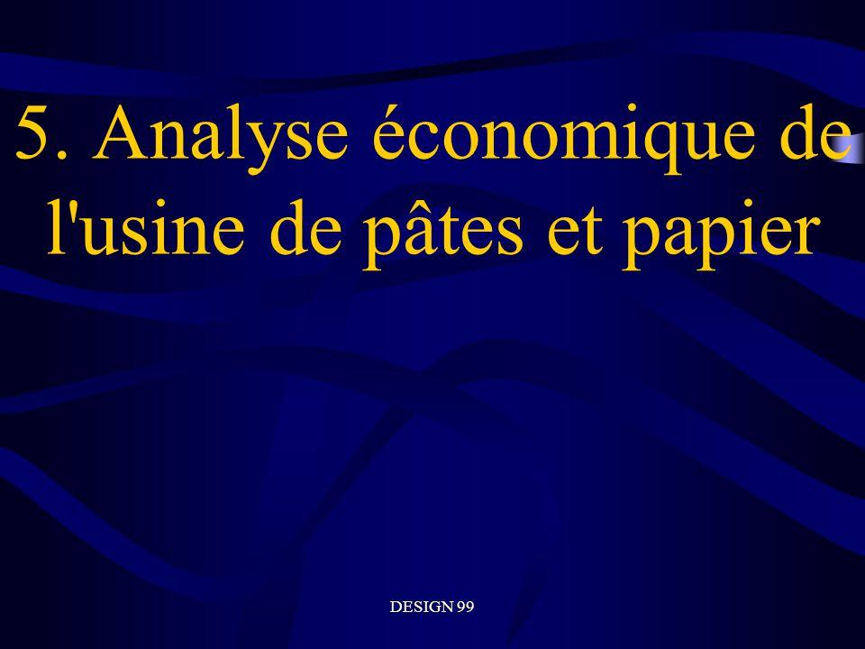 5. Analyse économique de l usine de pâtes et papier