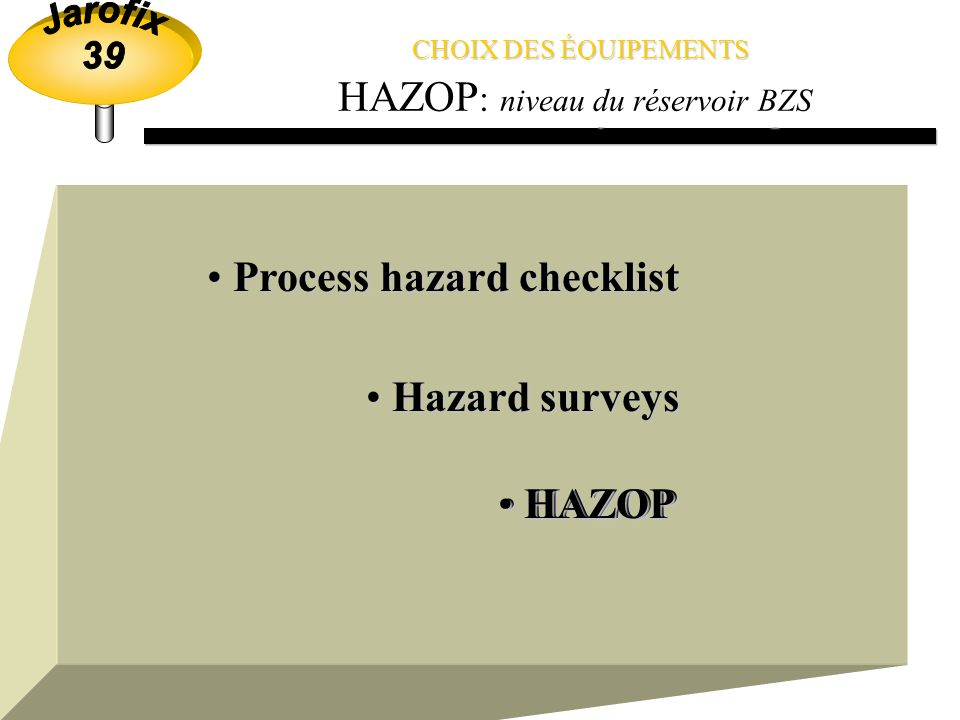 Process hazard checklist