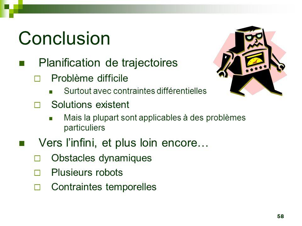 Conclusion Planification de trajectoires
