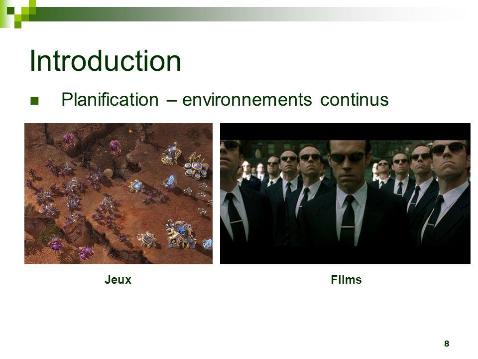 Introduction Planification – environnements continus Jeux Films