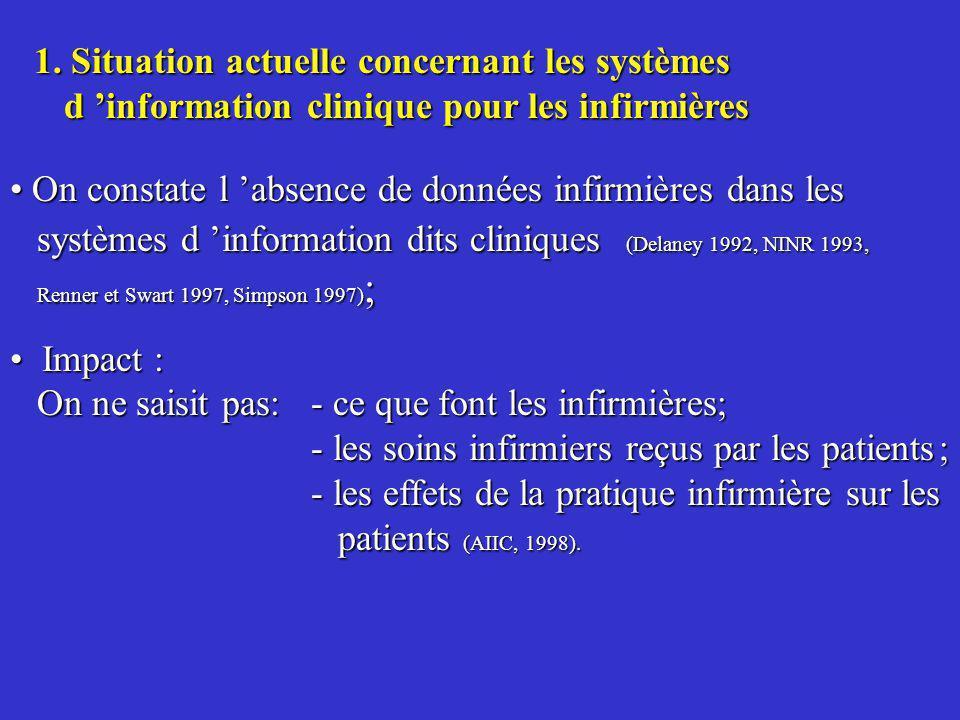 1. Situation actuelle concernant les systèmes