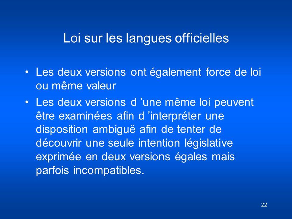 Loi sur les langues officielles