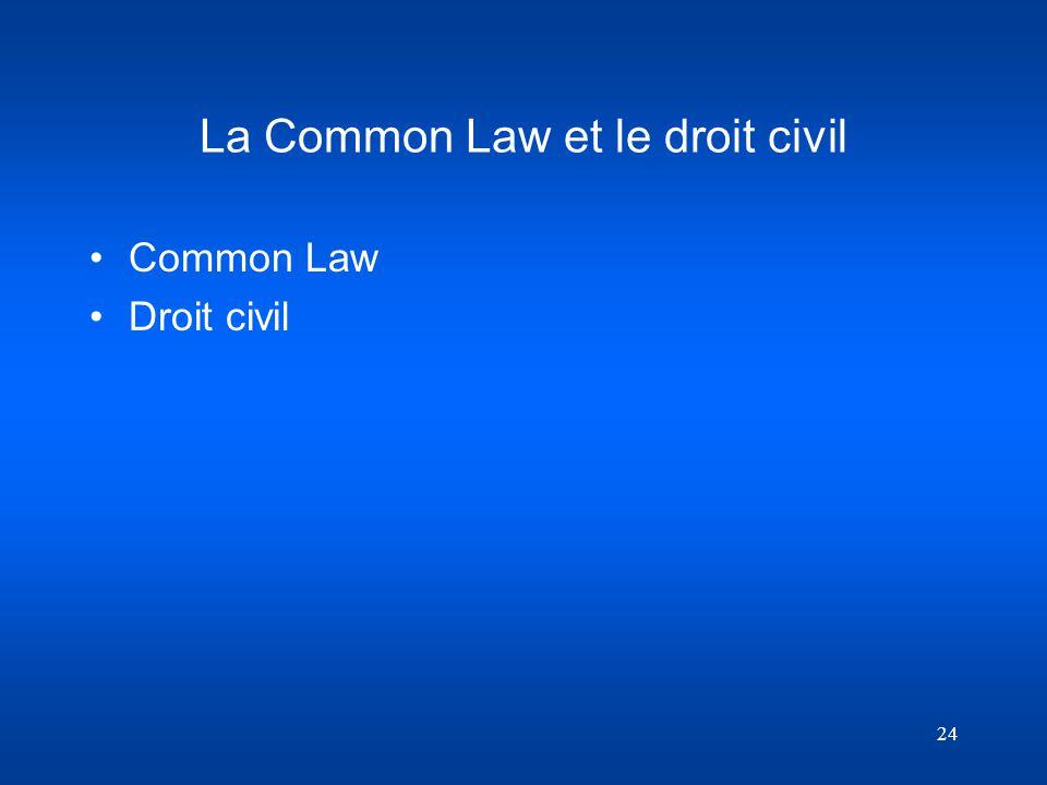 La Common Law et le droit civil