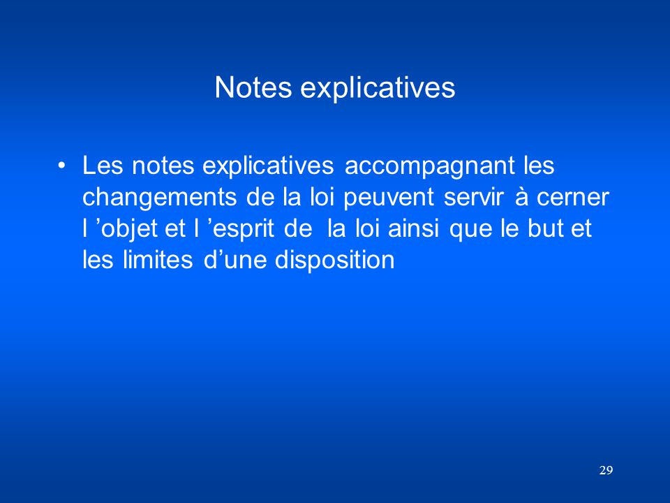 Notes explicatives