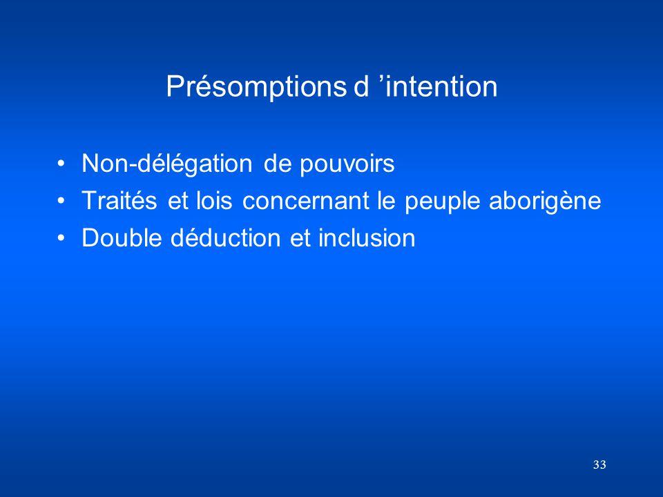Présomptions d 'intention