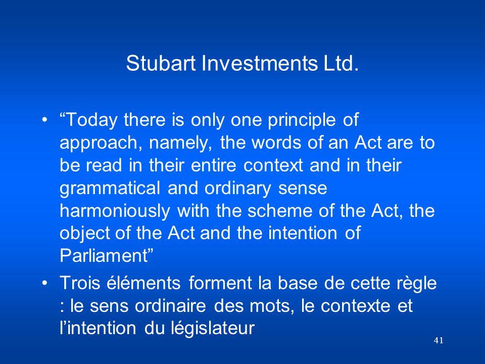 Stubart Investments Ltd.