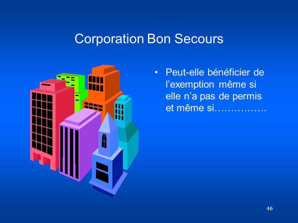 Corporation Bon Secours