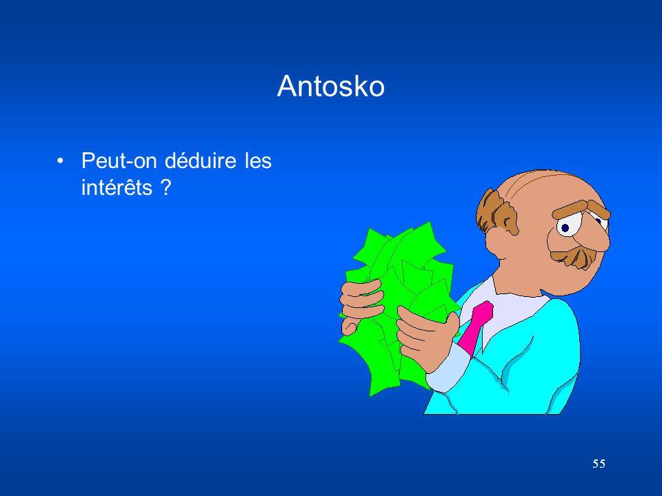 Antosko Peut-on déduire les intérêts