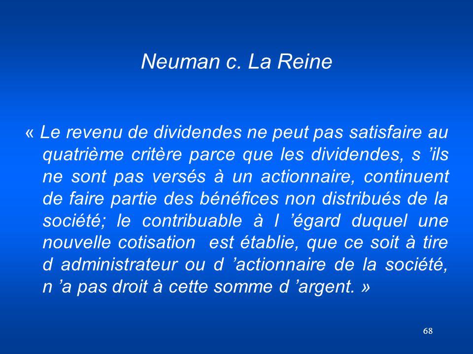 Neuman c. La Reine