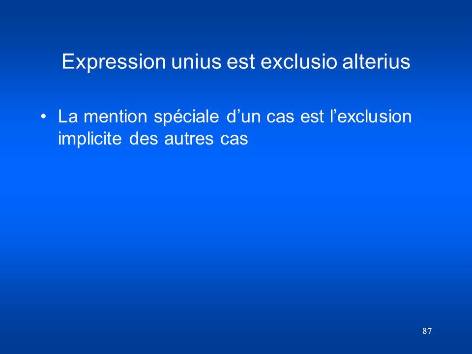 Expression unius est exclusio alterius