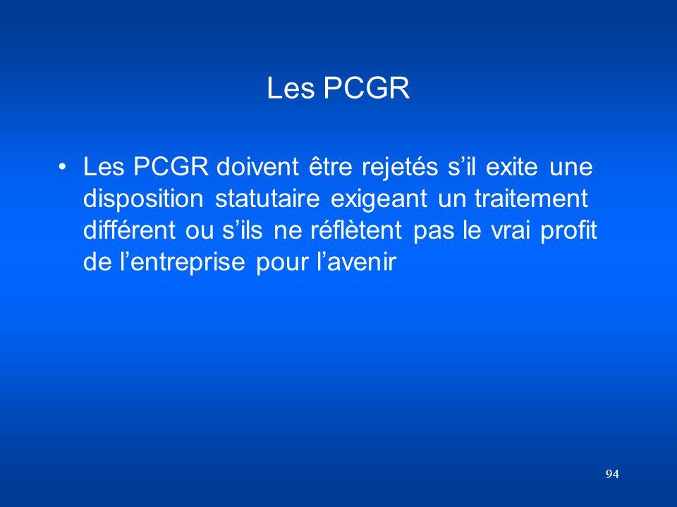 Les PCGR