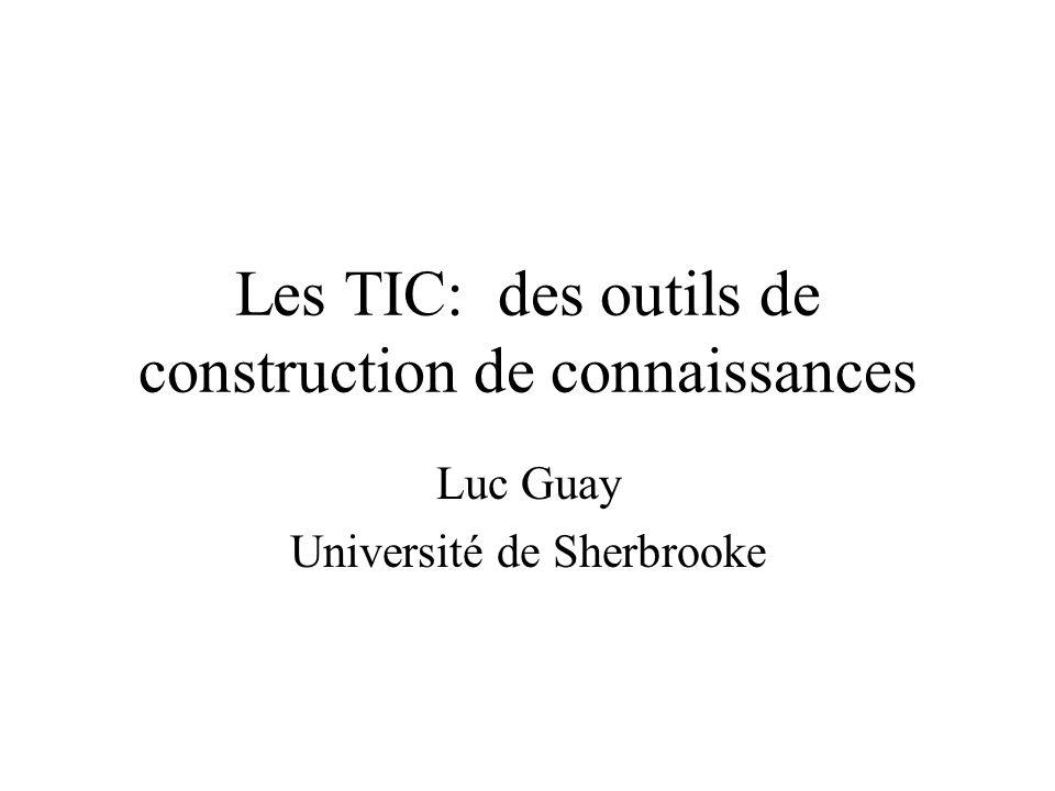Les TIC: des outils de construction de connaissances