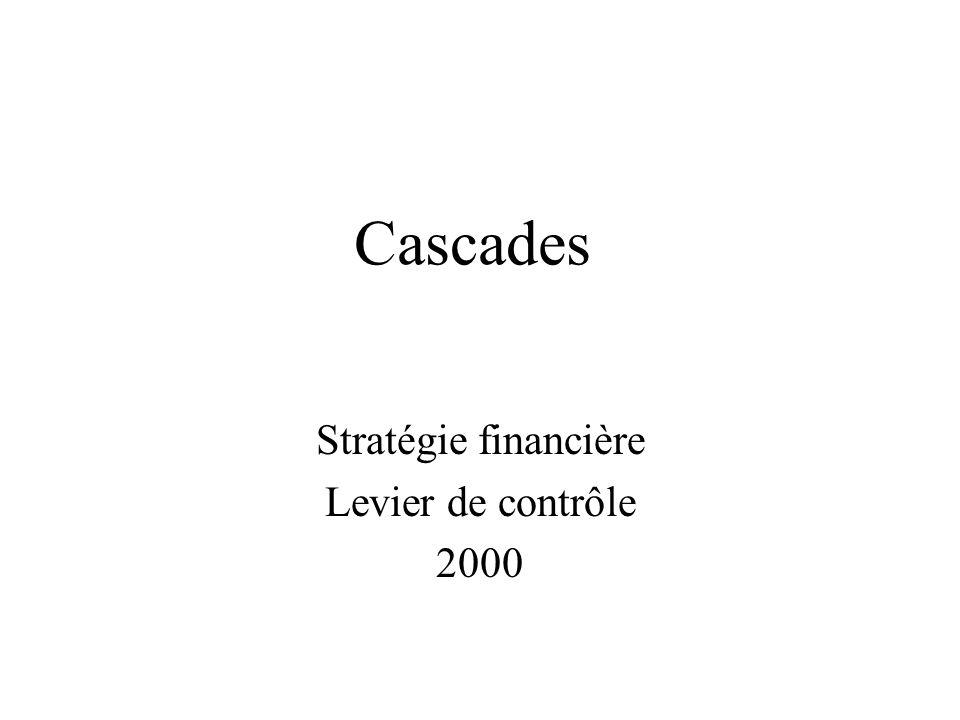 Stratégie financière Levier de contrôle 2000