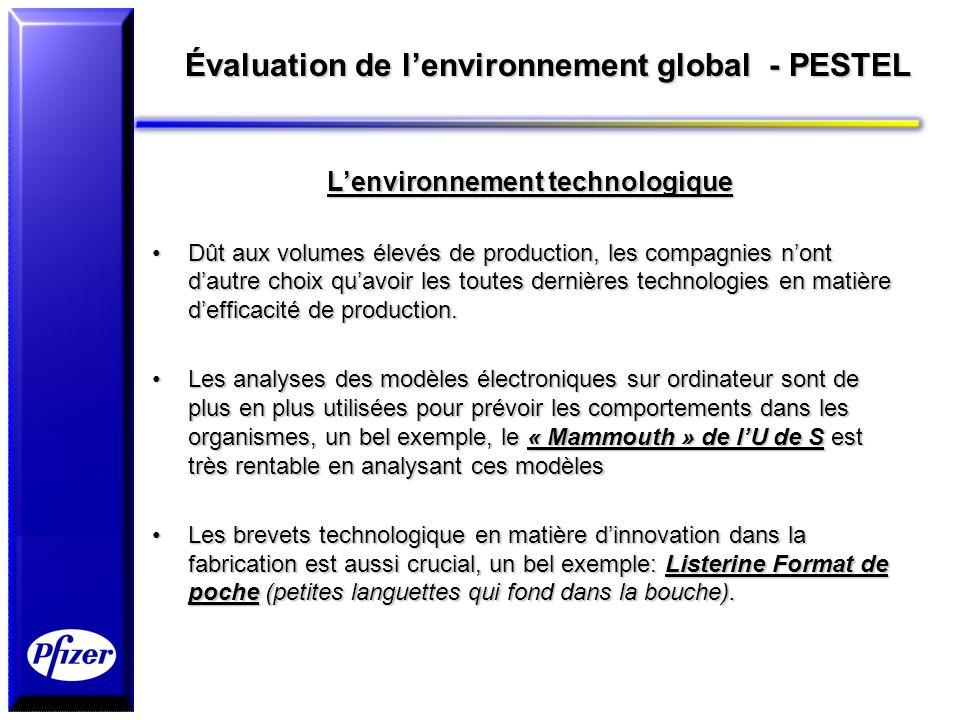 Évaluation de l'environnement global - PESTEL