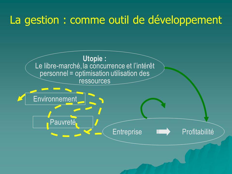 La gestion : comme outil de développement