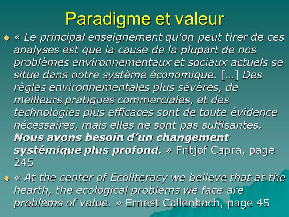 Paradigme et valeur