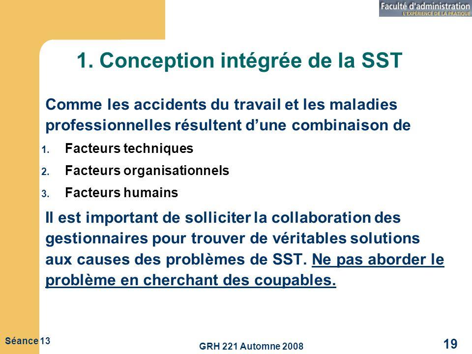 1. Conception intégrée de la SST