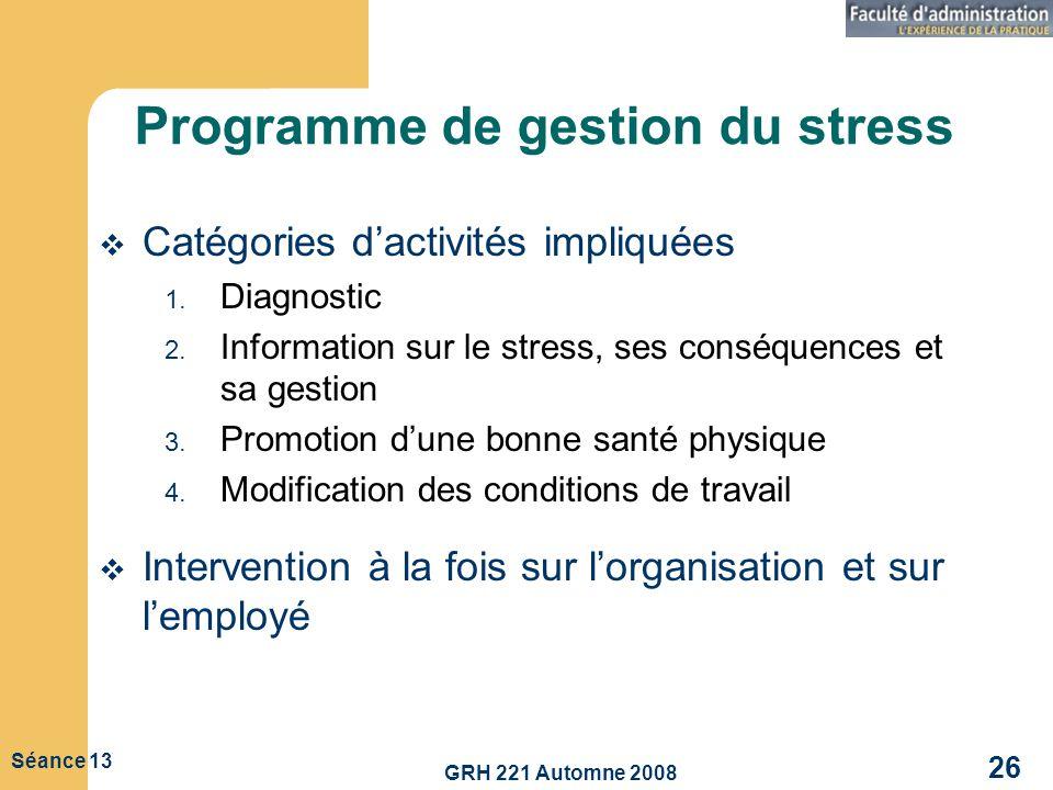 Programme de gestion du stress