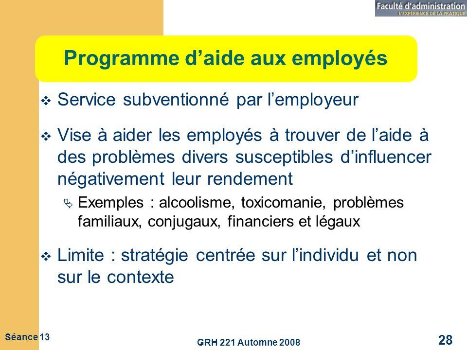 Programme d'aide aux employés