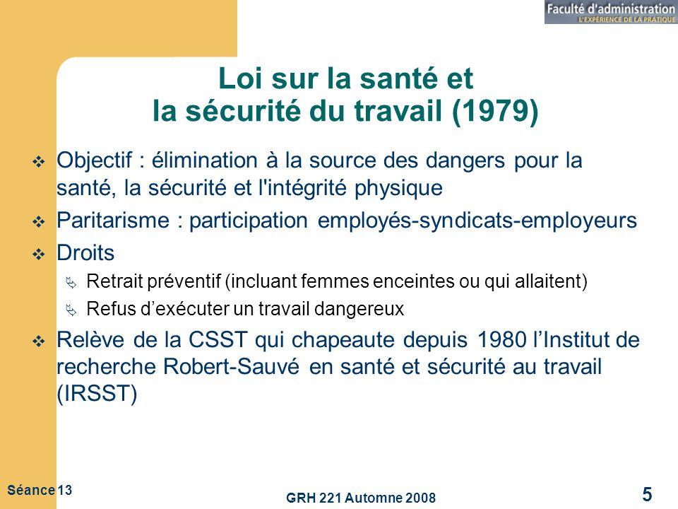 Loi sur la santé et la sécurité du travail (1979)