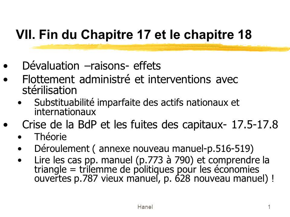 VII. Fin du Chapitre 17 et le chapitre 18