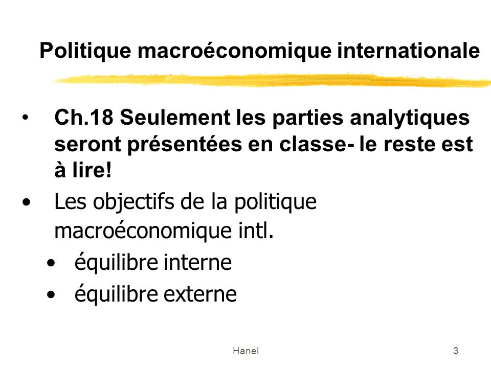 Politique macroéconomique internationale