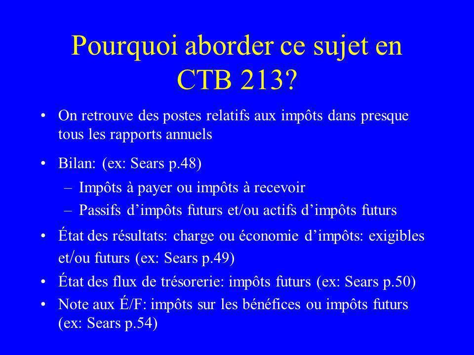 Pourquoi aborder ce sujet en CTB 213