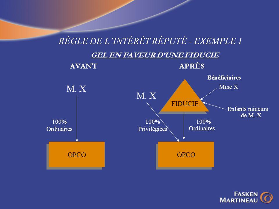 RÈGLE DE L'INTÉRÊT RÉPUTÉ - EXEMPLE 1