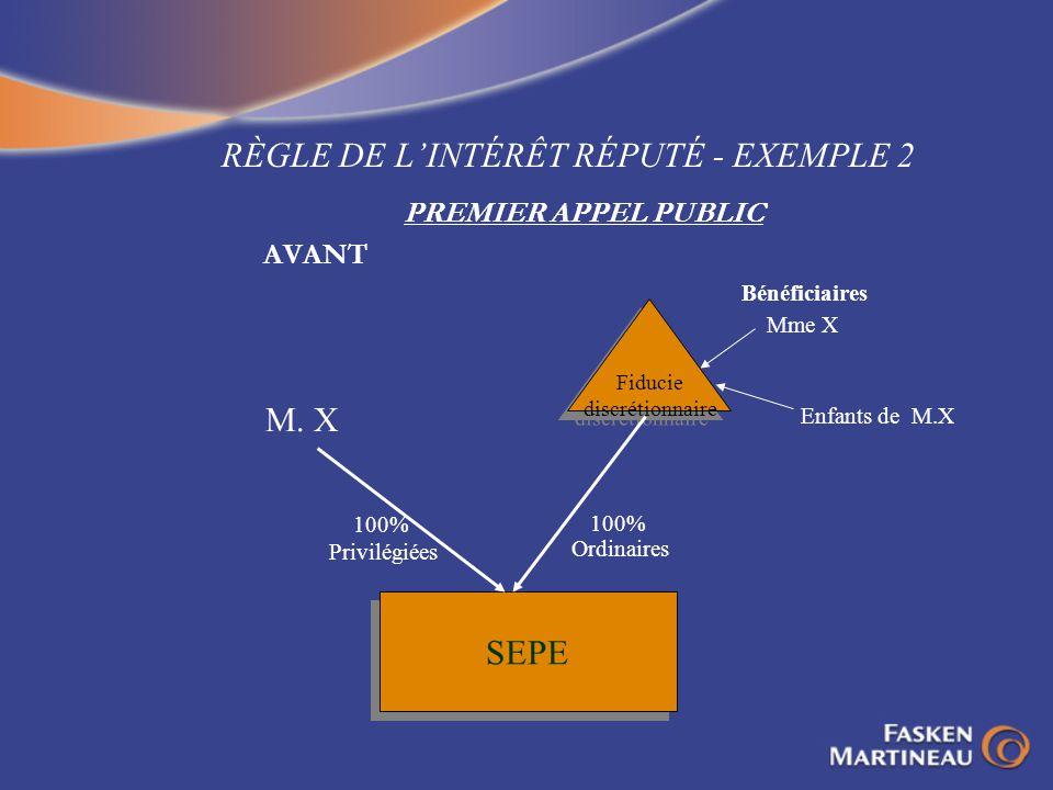 RÈGLE DE L'INTÉRÊT RÉPUTÉ - EXEMPLE 2