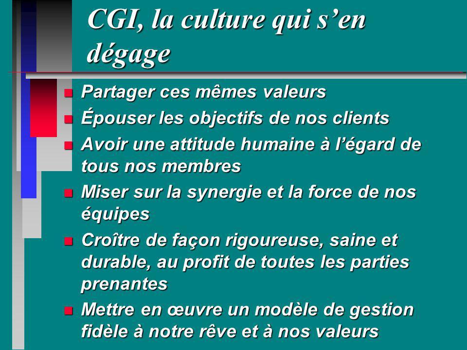 CGI, la culture qui s'en dégage