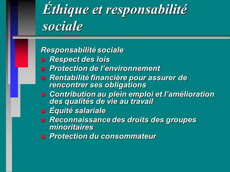 Éthique et responsabilité sociale